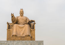 Statue of Sejong the Great, the king of South Korea Stock Image