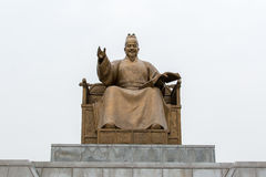 Statue of Sejong in Seoul stock photos