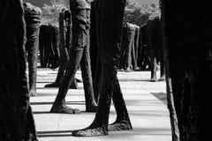 Statue senza testa dell'agora di Chicago Fotografie Stock