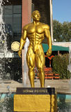 Statue of Serge Nubret. In front of a big fitness center. Location: Timisoara, west Romania stock image