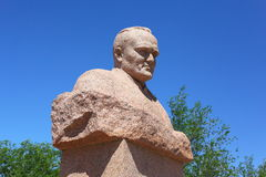 Statue of Sergey Korolev in Baikonur Royalty Free Stock Images
