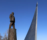 Statue of Sergey Korolev, Moscow, Russia Stock Image