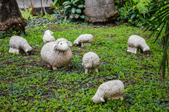 Statue Sheep garden Stock Image