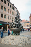 Statue of the Ship of Fools in Nuremberg. Royalty Free Stock Image