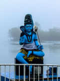 Statue of Shiva at Grand Bassin. Statue of a Shiva at the shore of Grand Bassin, the holy lake of hinduism in Mauritius stock image