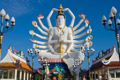 Statue of Shiva on Koh Samui island in Thailand Stock Photos
