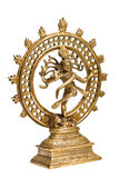 Statue of Shiva Nataraja - Lord of Dance isolated. Statue of indian hindu god Shiva Nataraja - Lord of Dance isolated on white Royalty Free Stock Photography