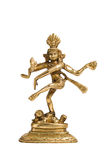 Statue of Shiva Nataraja - Lord of Dance isolated Royalty Free Stock Photography
