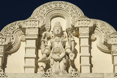 Statue of Shiva with Ornament Architecture at Hindu Temple Stock Images