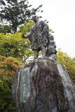 Nikko temple in Japan. Statue of Shodo monk at Nikko temple in Japan Stock Photos