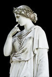 Statue showing a Greek muse royalty free stock image