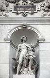 Statue shows an allegory of heroism, Burgtheater, Vienna Stock Photos