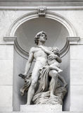 Statue shows an allegory of heroism, Burgtheater, Vienna Stock Image