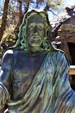 The Shrine of Saint Joseph of the Mountains, Yarnell, Arizona, United States. Statue at The Shrine of Saint Joseph of the Mountains located in Yarnell, Arizona stock photography