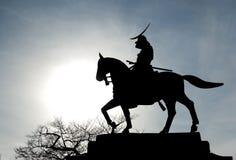 Statue silhouettée de date Masamune image stock