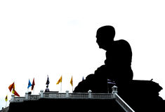 Statue in silhouette Royalty Free Stock Photos