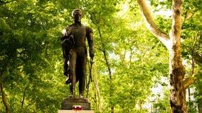 Statue of Simon Bolivar. The statue of Simon Bolivar at Avenida da Liberdade at Lisbon, Portugal Stock Image