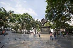 Statue simon bolivar Stock Photos