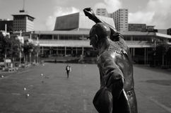 Statue of Sir Dove-Myer Robinson in Aotea Square in Auckland New Royalty Free Stock Photos