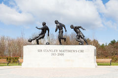 Statue of Sir Stanley Matthews CBE Stock Images