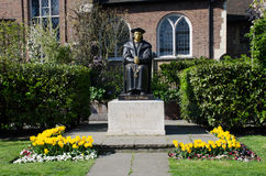 Statue of Sir Thomas Moore at Chelsea Old church Stock Image