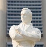 Tomas Stamford Raffles statue, Singapore. Statue of Sir Tomas Stamford Raffles - best known for his founding of the city of Singapore. He is often described as Stock Photos