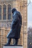 Statue of Sir Winston Churchill. Royalty Free Stock Photos