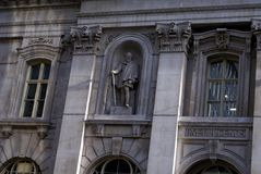 Statue of Sire Hugh Myddelton ( Middleton) , The Royal Exchange Building, London, England Royalty Free Stock Images