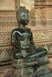 The statue of sittiing buddha Stock Images