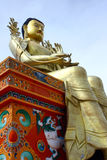 Statue of sitting buddha. In likir monastery Royalty Free Stock Image