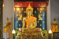 Statue of a sitting Buddha Stock Photography