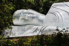 Statue of sleeping Buddha. Royalty Free Stock Photo