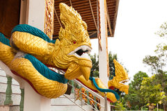 Statue of snake or serpent called Dragon, Naga statue Royalty Free Stock Image