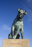 Statue of 'Snooks' the dog in Aldeburgh, Suffolk, England Royalty Free Stock Images