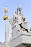 Statue of Socrates. In front of the Academy of Athens, Greece Royalty Free Stock Image