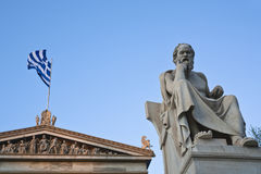 Statue of Socrates Royalty Free Stock Images