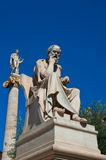 The statue of Socrates. Athens, Greece. Royalty Free Stock Images