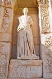 Statue of Sofia in Ephesus. Sofia, goddess of Wisdom statue in ancient Celsus library in Ephesus, Turkey Stock Photo