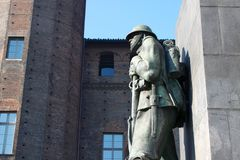 Statue of a soldier Stock Images