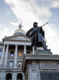 Statue of soldier in front of State Capitol Denver Royalty Free Stock Photography