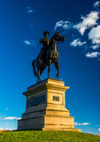 Statue of a soldier on horseback at Gettysburg, Pennsylvania. Royalty Free Stock Photography