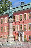 Statue of soldier in Stockholm stock photography