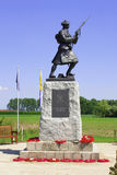 A Statue of soldier ww1 royal highlanders in flanders fields belgium Royalty Free Stock Images
