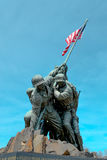 Statue of soldiers with the American Flag Royalty Free Stock Photography