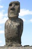 Statue solitaire d'île de Pâques Photographie stock libre de droits