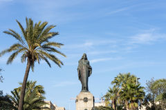 Statue at some tropical. City stock image