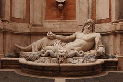 Statue. Somewhere in Rome, Italy royalty free stock photography