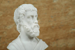 Statue of Sophocles,ancient greek poet. Royalty Free Stock Photo