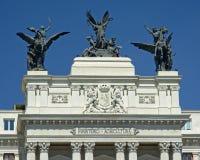 Statue sopra il Ministero della costruzione di agricoltura, Madrid Immagine Stock Libera da Diritti