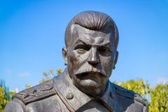 Statue of soviet leader Stalin stock photo